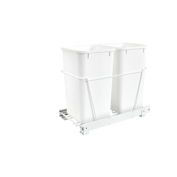 Plastic 6.75 Gallon Pull Out Trash Can by Rev-A-Shelf