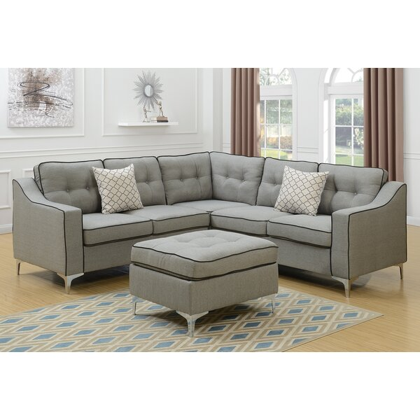 Izzie Sectional with Ottoman by Mercer41