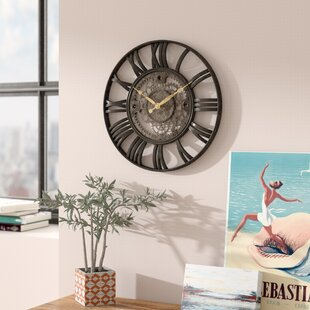 Lehigh 15 Roman Gear Wall Clock