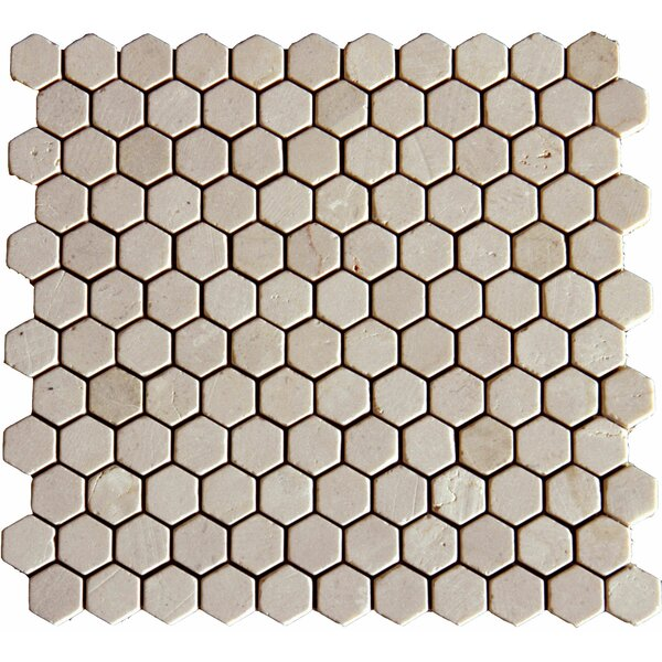 1 x 1 Marble Mosaic Tile in Unpolished Beige by MSI