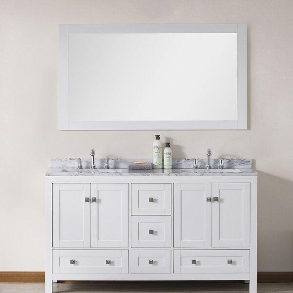 Brier 60 Double Bathroom Vanity Set with Mirror by Wrought Studio