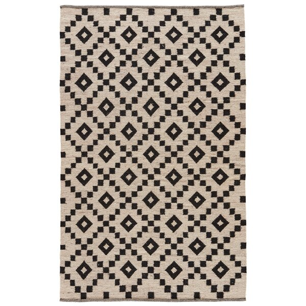 Campbelltown Ivory/Black Area Rug by Wrought Studio