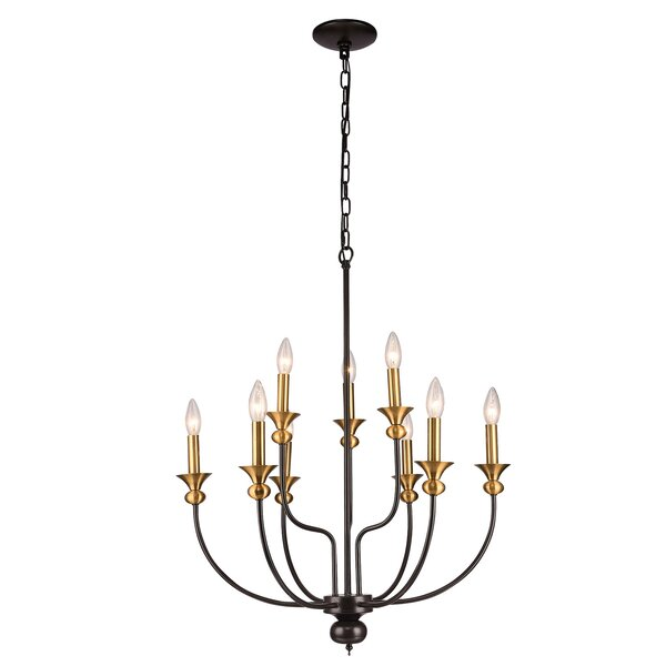 Chulmleigh 9 - Light Candle Style Classic / Traditional Chandelier by Mercer41 Mercer41