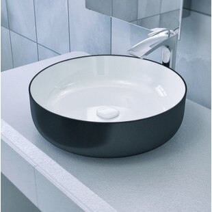 Reviews Metamorfosi™ Ceramic Circular Vessel Bathroom Sink By Aquatica