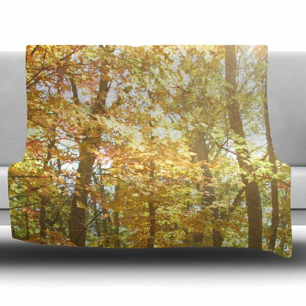 Autumn Trees 2 by Sylvia Coomes Fleece Blanket by East Urban Home