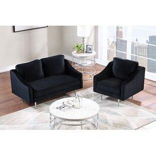 Frazeysburg 2 Piece Velvet Living Room Set by Everly Quinn