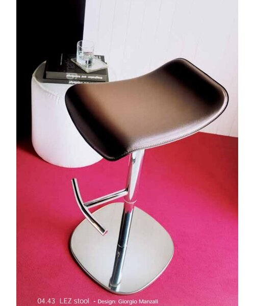 Lez Adjustable Height Swivel Bar Stool by Bontempi Casa