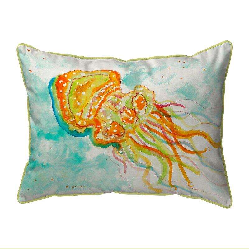 Highland Dunes Alaina Jellyfish Indoor Outdoor Lumbar Pillow Wayfair