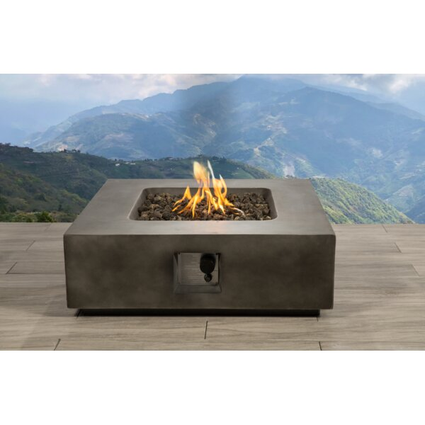 Santiago Concrete Propane Fire Pit Table by Living Source International