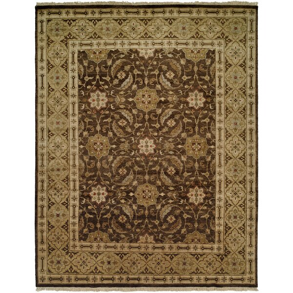 Maxine Hand Knotted Wool Brown/Olive Area Rug
