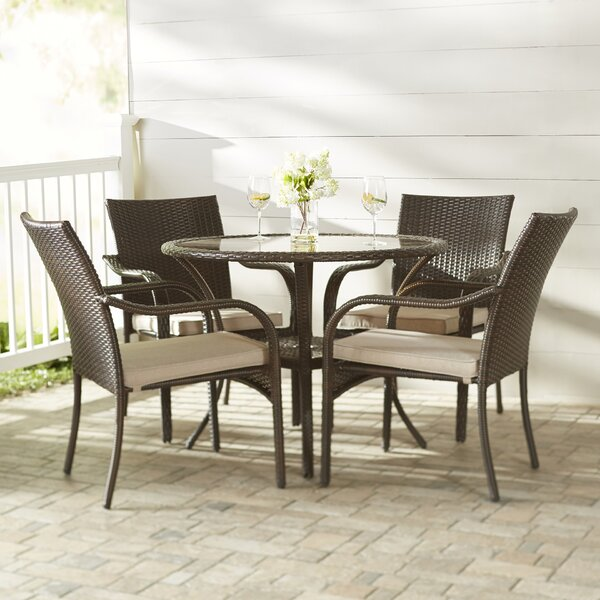 Groovy Bennington 5 Piece Dining Set With Cushions Lamtechconsult Wood Chair Design Ideas Lamtechconsultcom