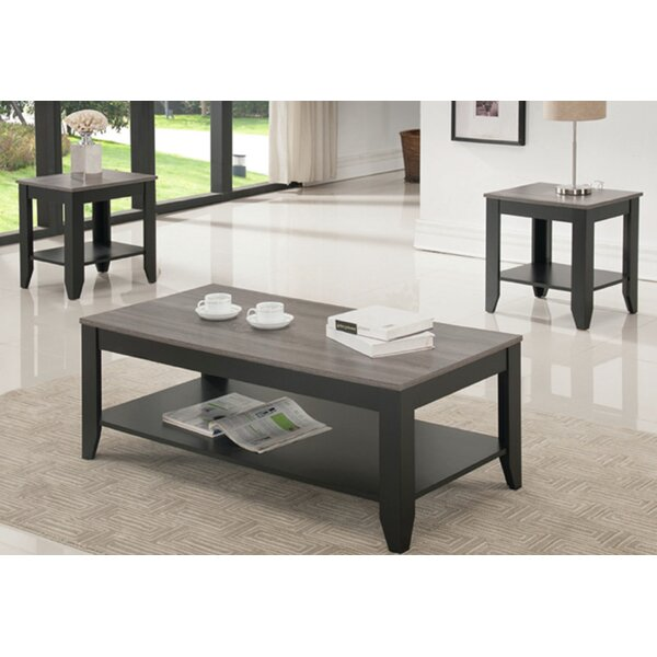 Hanriette Reclaimed Wood Look 3 Piece Coffee Table Set by Red Barrel Studio Red Barrel Studio