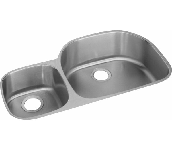 Harmony 36.31 L x 21.13 W Double Basin Undermount Kitchen Sink by Elkay