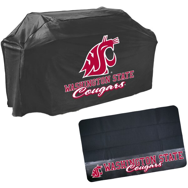 Mr. Bar-B-Q - NCAA Grill Cover and Grill Mat Set, Washington State Cougars by Mr. Bar-B-Q