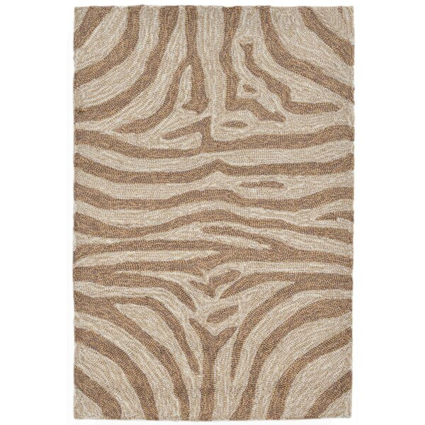 Fellman Brown Zebra Indoor/Outdoor Area Rug by Bloomsbury Market
