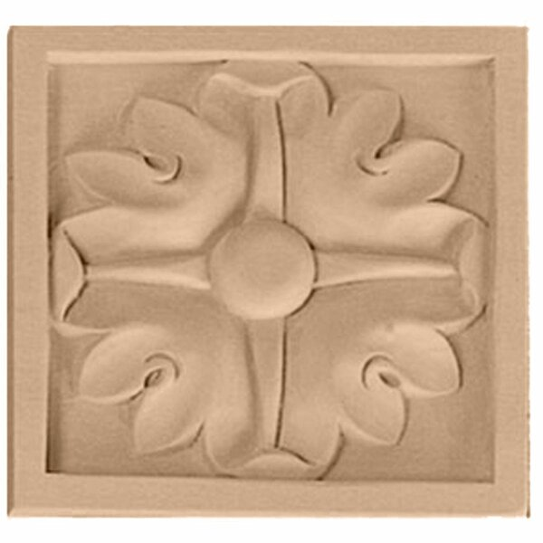 Edinburgh 3 1/2H x 3 1/2W x 3/4D Medium Rosette by Ekena Millwork