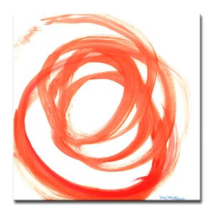 Orange Swirl II Painting Print on Wrapped Canvas by Wade Logan