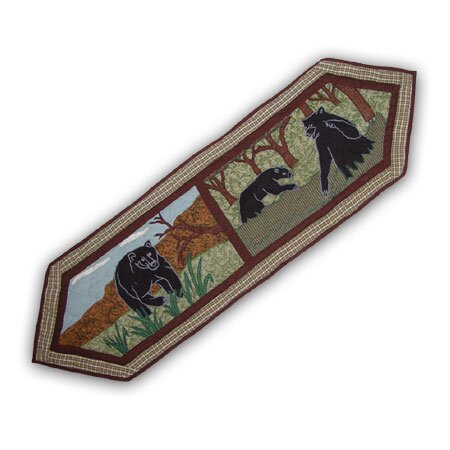 Bear Country Table Runner by Patch Magic