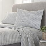 Wales Organic Comfort Wash 200 Thread Geometric 100% Cotton Sheet Set