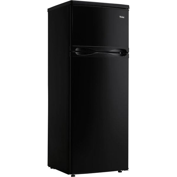 Designer 7.3 cu. ft. Top Freezer Refrigerator with Top-Mount Freezer by Danby