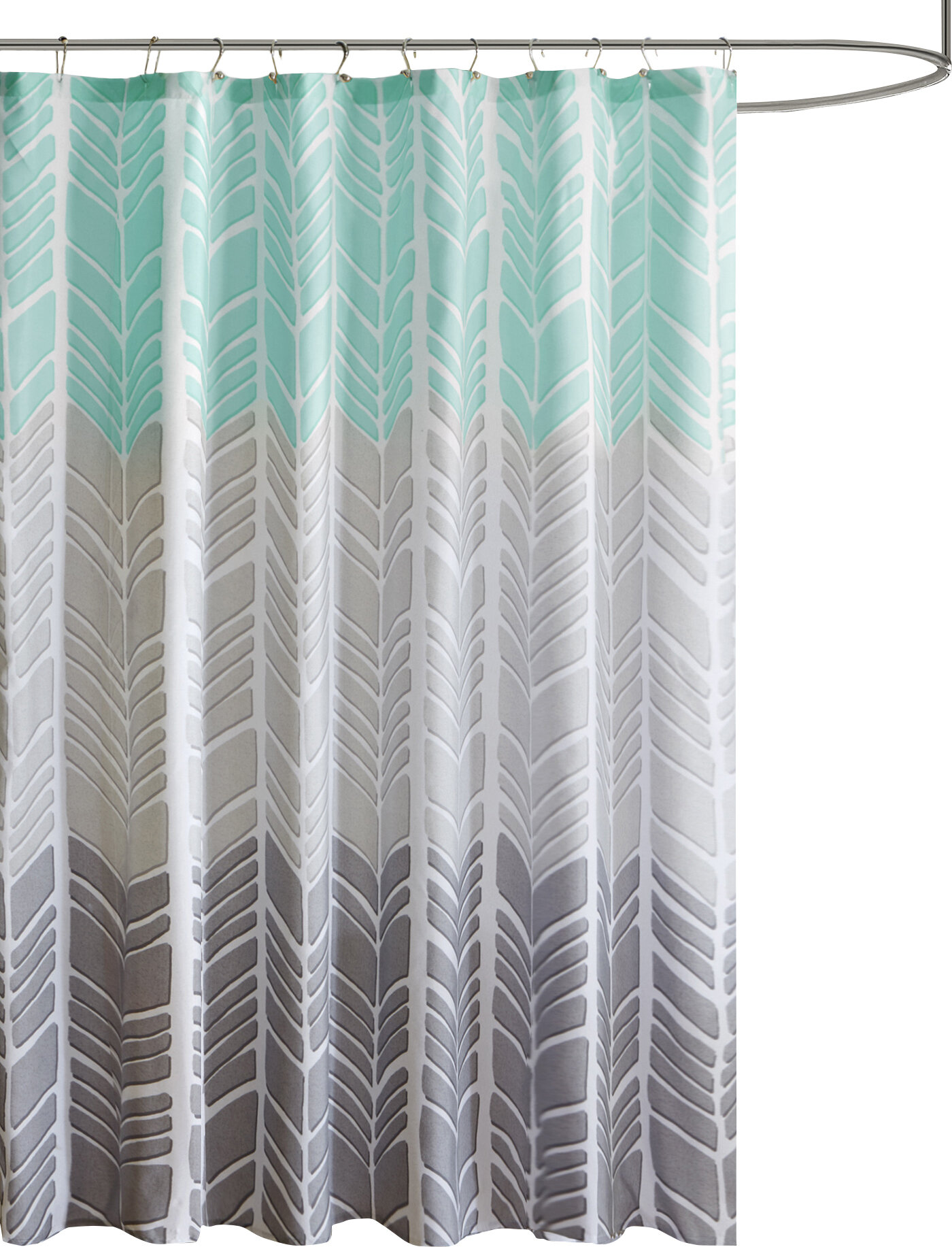 Stansel Printed Single Shower Curtain