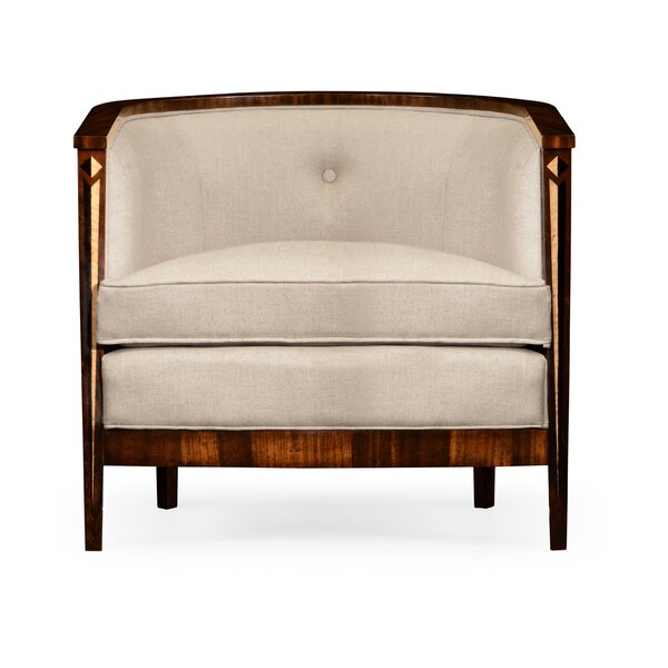 Tan Barrel Chair by Jonathan Charles Fine Furniture