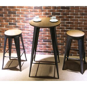 Nickolas 3 Piece Pub Table Set by Williston Forge