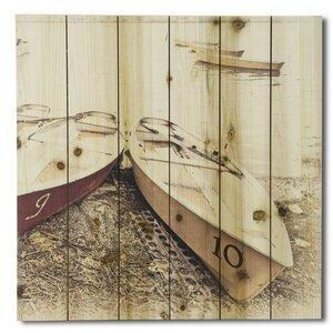 'Boats on Shore' Photographic Print on Wood by Gallery 57