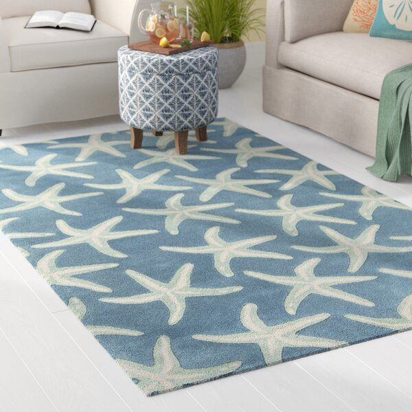 Clare Hand-Tufted Denim/Khaki Area Rug by Highland Dunes