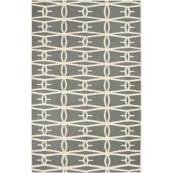 Kymani Hand-Woven Gray Area Rug by Wrought Studio