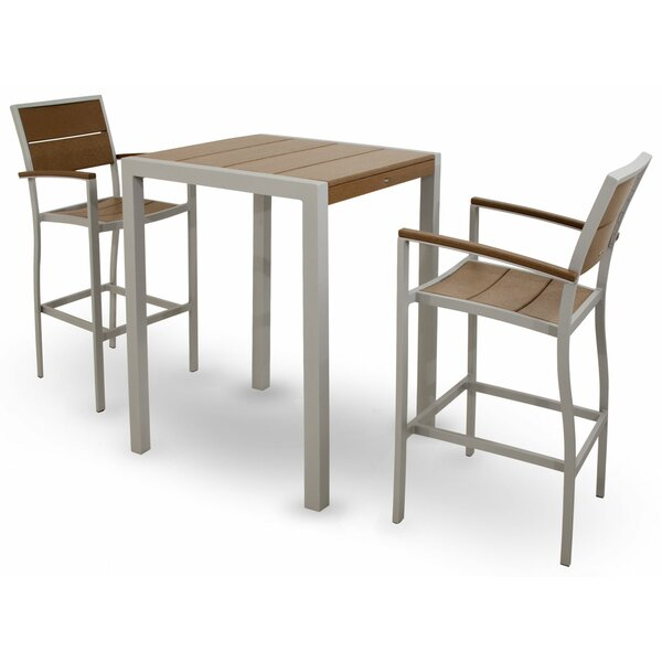 Surf City 3 Piece Bar Height Dining Set by Trex Outdoor