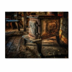 Liberty Wood Stove by Lois Bryan Photographic Print on Wrapped Canvas by Trademark Fine Art