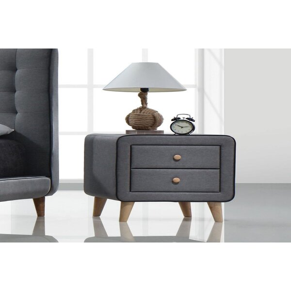 Louann 2 - Drawer Nightstand In Gray By George Oliver