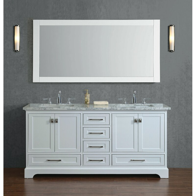 stian 72 double sink bathroom vanity set with mirror - Double Sink Bathroom Vanities