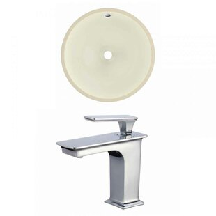 Order Ceramic Circular Undermount Bathroom Sink with Faucet and Overflow ByRoyal Purple Bath Kitchen