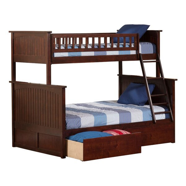Abbie Twin Over Full Standard Bed with Drawers by Harriet Bee