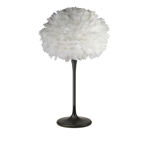 Gansevoort Feather Shade 26 Table Lamp by Ivy Bronx