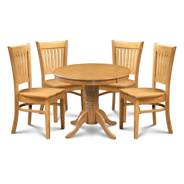 Miriam 5 Piece Dining Set by Breakwater Bay