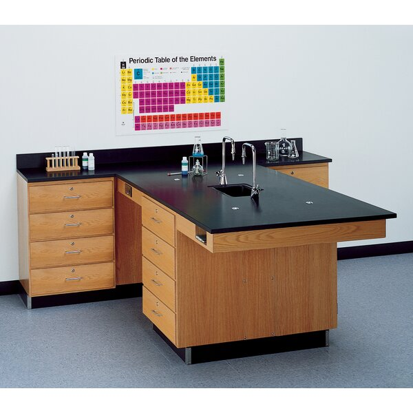 Perimeter Workstation With 4 Drawers, Sink and Fixtures by Diversified Woodcrafts