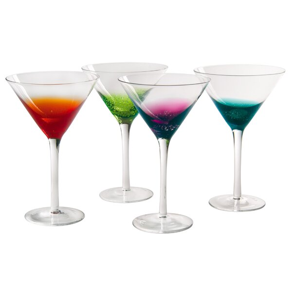 Brumback Martini Glass (Set of 4) by Ivy Bronx