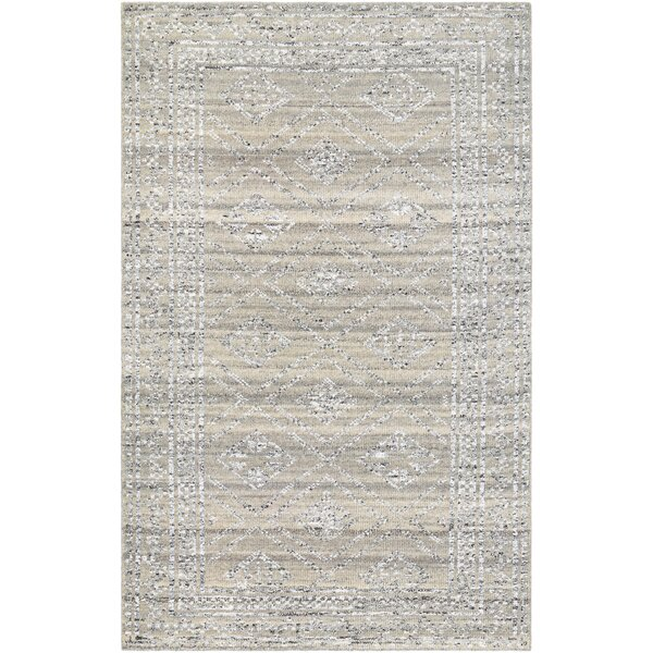Cargile Hand-Knotted Gray Area Rug by Charlton Home