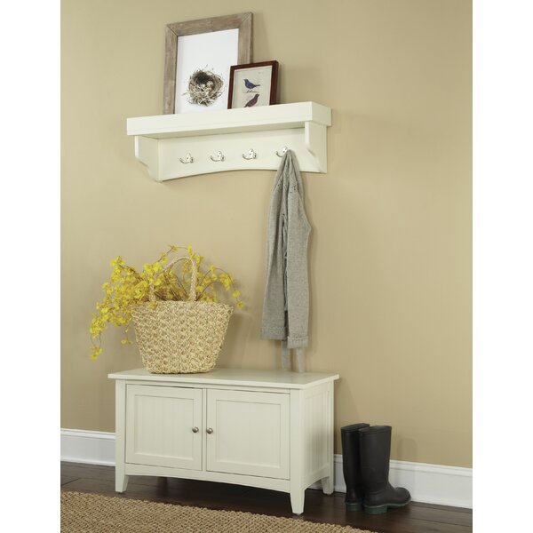 Bel Air 2 Piece Hall Tree Coat Hook and Cabinet Set by Alcott Hill