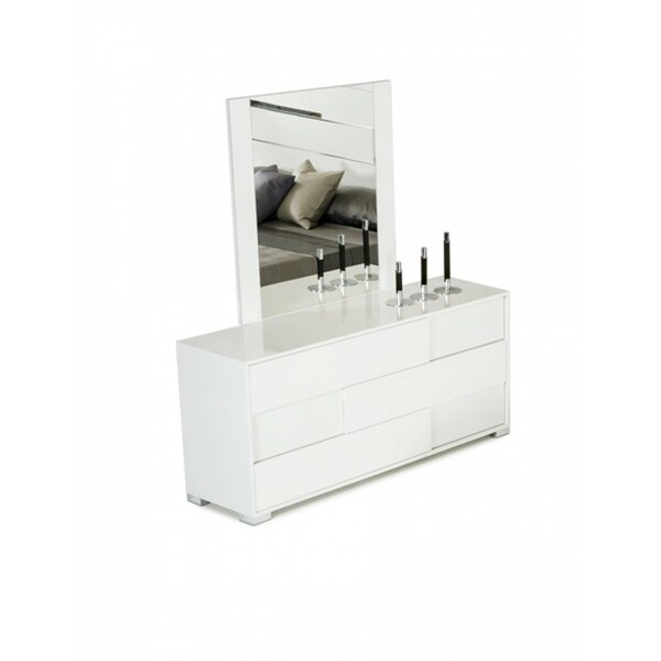 Camron 3 Drawer Dresser with Mirror by Orren Ellis