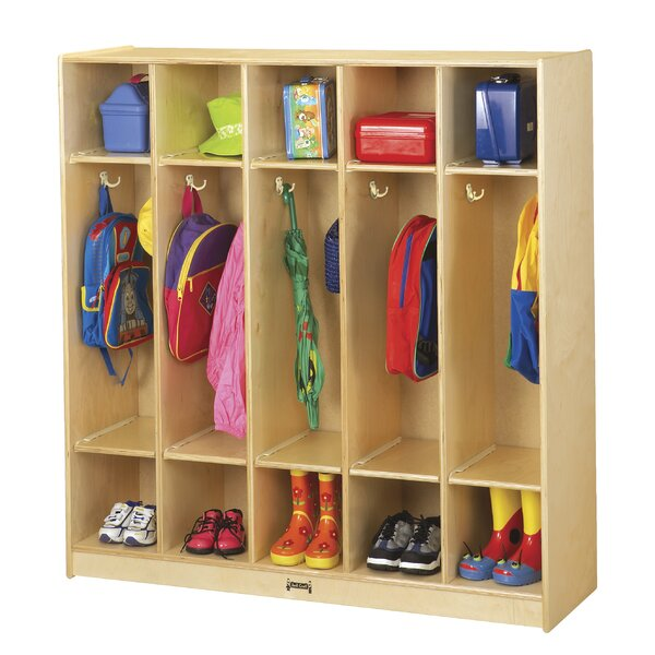 3 Tier 5 Wide Coat Locker by Jonti-Craft