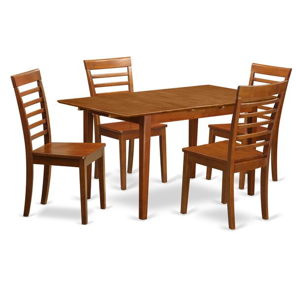 Cartley 5 Piece Extendable Dining Set by Red Barrel Studio Red Barrel Studio