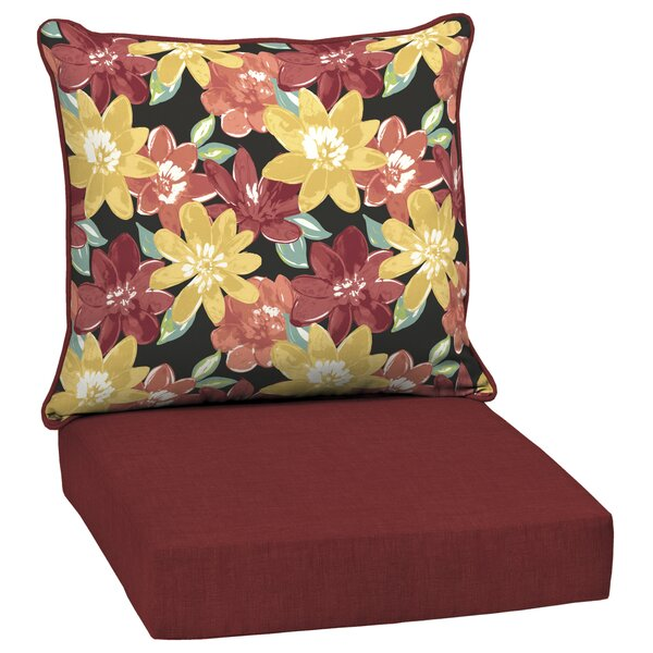 Floral Outdoor Lounge Chair Cushion by Red Barrel Studio
