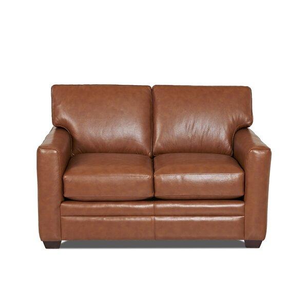 Carleton Leather Loveseat by Wayfair Custom Upholstery™