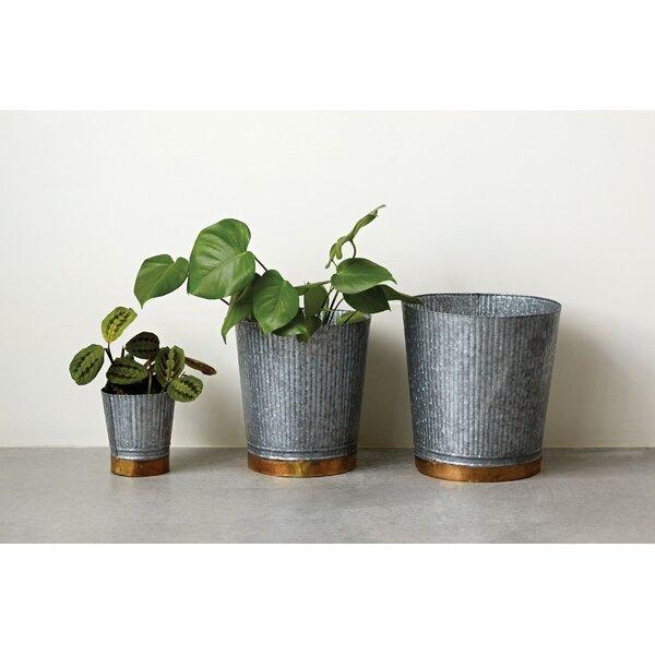 Dipietro 3-Piece Metal Pot Planter Set by Williston Forge