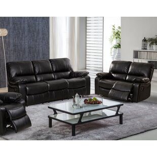Koval Faux Leather Reclining Living Room Set by Red Barrel Studio®