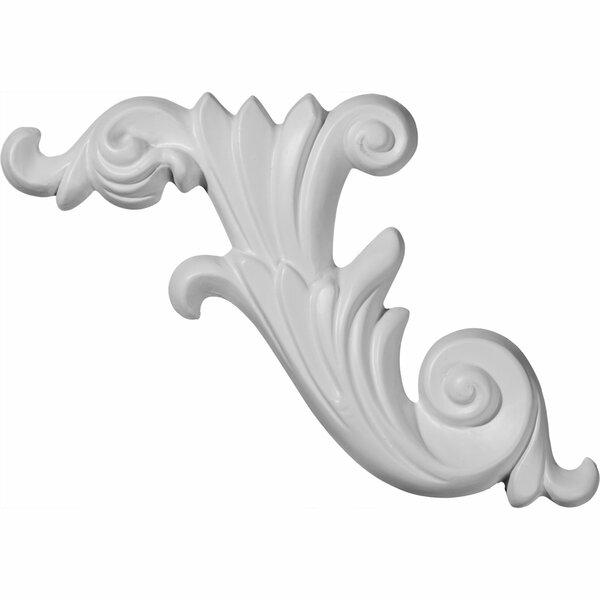 Loera 15 3/4H x 7 1/8W Scroll Onlay Left by Ekena Millwork